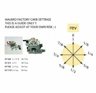 Stock carb settings for 1107? | Large Scale RC Forums